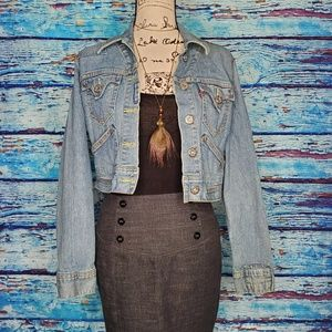 Levi's Jean Jacket w/ Horse on back Size Medium